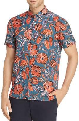 b449ceaed Ted Baker Memory Flamingo Print Slim Fit Shirt - 100% Exclusive