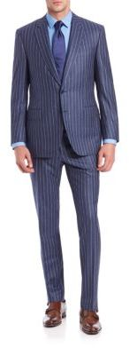 Canali Canali Pinstripe Wool Suit
