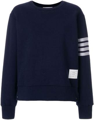 Thom Browne Double-faced Cashmere Crewneck Sweatshirt