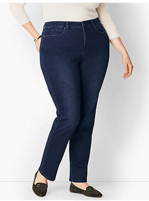 Talbots Plus Size Comfort Stretch High-Rise Straight-Leg Jeans - Curvy Fit/Marco Wash