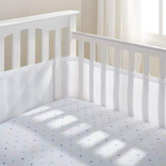 BreathableBaby Airflow 4-Sided Mesh Cot Liner - White