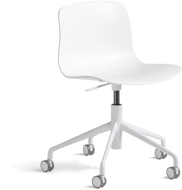 Hay - About A Chair AAC 50 mit Gaslift, pulverbeschichtet Weiß / Weiß