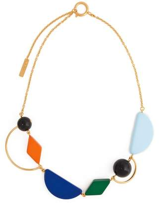 Marni - Geometric Resin And Metal Necklace - Womens - Multi