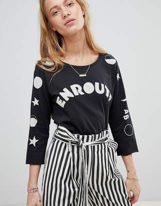 Maison Scotch 3/4 moons and stars t-shirt