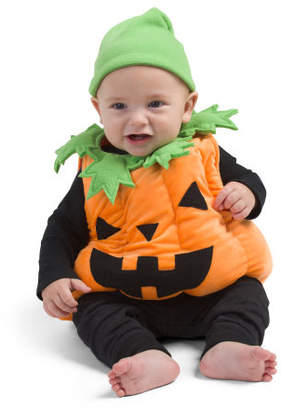 Infant Pumpkin Plush Bubble Costume