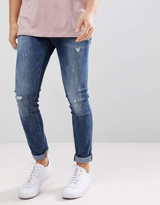 G Star G-Star Revend Super Slim Jeans Midwash