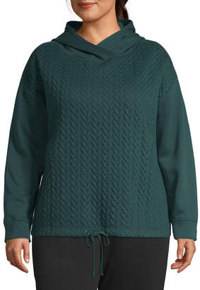 ST. JOHN'S BAY SJB ACTIVE Active Quilted Texture Hoodie - Plus