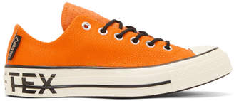 Converse Orange Leather Chuck 70 Low Sneakers