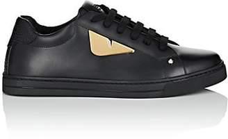 Fendi Women's Eye-Appliquéd Leather Sneakers - Black