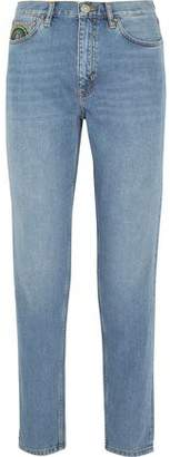 MiH Jeans Faded High-Rise Slim-Leg Jeans