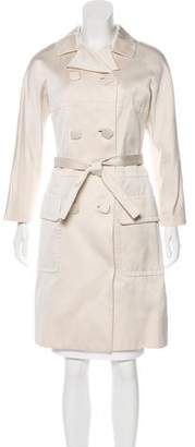 Tuleh Double-Breasted Belted Coat