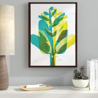 Ebern Designs 'Botanical Plant Digital Image' Framed Graphic Art Print on Canvas