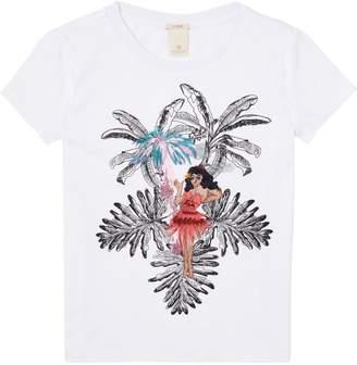 Scotch & Soda Embroidered Artwork T-Shirt