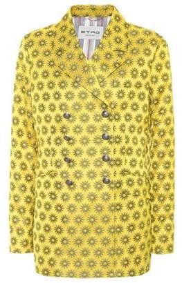 Etro Printed satin blazer