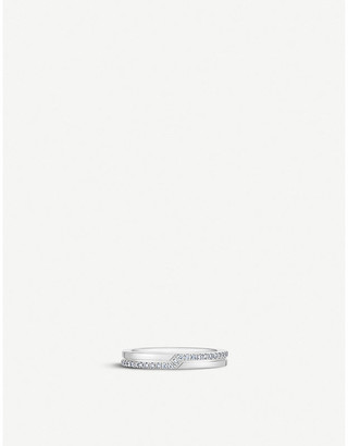 De Beers Promise half pavé 18ct white-gold and diamond ring