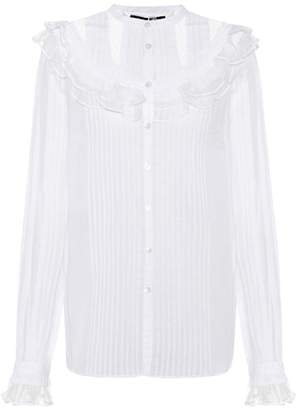 McQ Lace-embellished cotton shirt