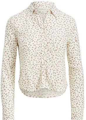 Ralph Lauren Denim & Supply Floral Crepe Cropped Shirt $69.50 thestylecure.com