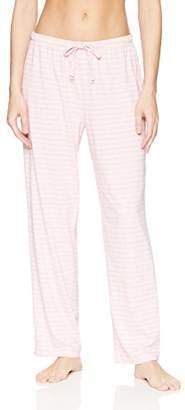 Nautica Women's Basic Knit Heather Stripe Pajama Pant
