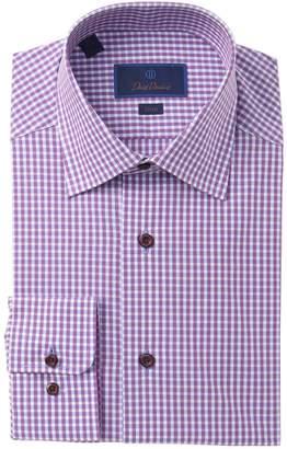 David Donahue Check Slim Fit Dress Shirt