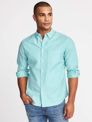 Old Navy Slim-Fit Built-In Flex Oxford Shirt for Men