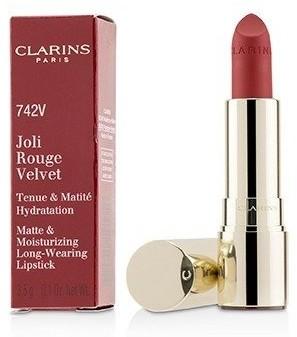 Clarins Joli Rouge Velvet (Matte & Moisturizing Long Wearing Lipstick) - # 742V Joil Rouge 3.5g/0.1oz