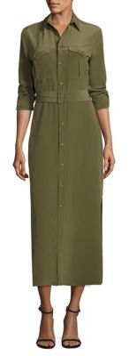 Polo Ralph Lauren Silk Crepe Shirtdress $298 thestylecure.com