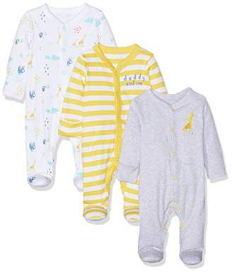 Mothercare Baby Mummy and Daddy Sleepsuits - 3 Pack Bodysuit,(Size:74CM)