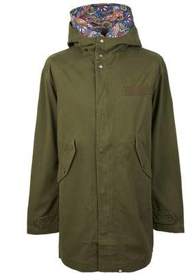 Pretty Green Cotton Zip Up Hooded Parka