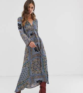 9a7d25b0f3f Stradivarius v neck floral print bandana print dress in multi