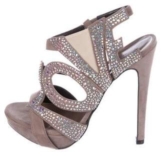 Georgina Goodman Embellished Suede Sandals