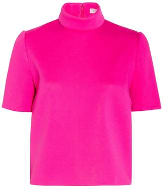 DELPOZO Neoprene Short Sleeve Top