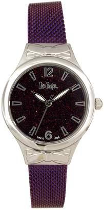 Lee Cooper Silvertone Crystal Mesh Bracelet Watch