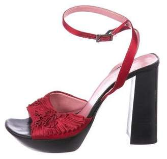 Sonia Rykiel Satin Platform Sandals