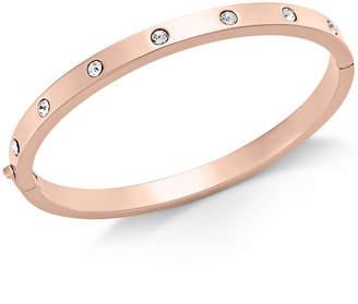 Kate Spade Gold-Tone Bezel-Set Polished Bangle Bracelet