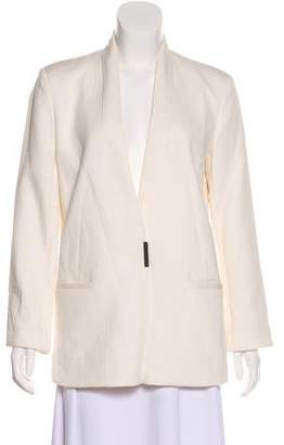 Helmut Lang Collarless Plunging Neck Blazer
