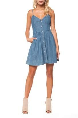 Dex Button Front Dress