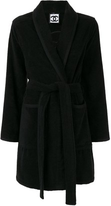 Chanel Pre-Owned belted robe coat