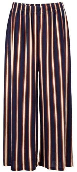 Womens *Navy Stripe Crop Culottes