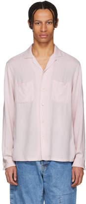 Blue Blue Japan Pink Splashed Pattern Shirt