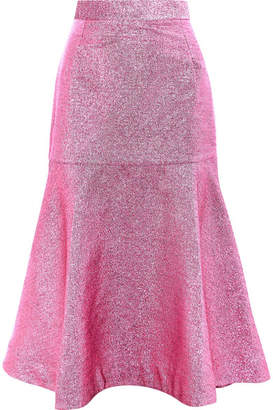 House of Holland Beach Lurex Midi Skirt - Pink