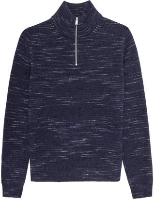 Reiss Kinaird - Zip Neck Jumper in Navy