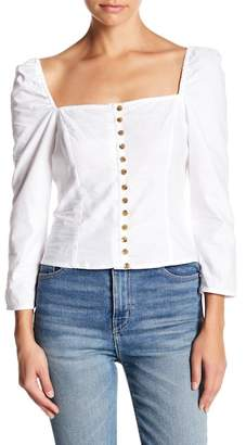 Lucy Paris Riley Front Button Blouse