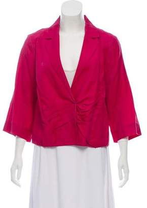 Chloé Ruched Notch-Lapel Blazer