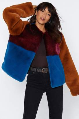 Nasty Gal Going Through a Soft Patch Faux Fur Coat