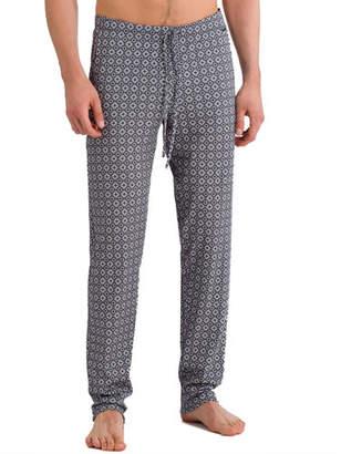 Hanro Basil Diamond-Pattern Knit Lounge Pants