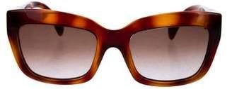 Valentino Gradient Square Sunglasses