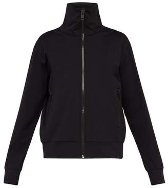 Burberry Logo Print Zip Through Sweatshirt - Mens - Black