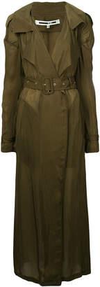 McQ Puckered seam trench coat