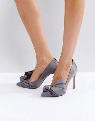 Ted Baker Dorabow Gray Satin Pumps
