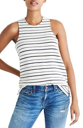 Women's Madewell Camille Stripe Tank $45 thestylecure.com